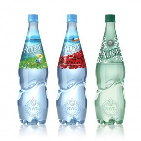 Вода Аура, бутылки