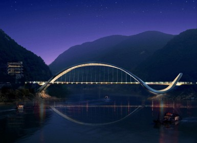 Dragon Eco Bridge, ночь