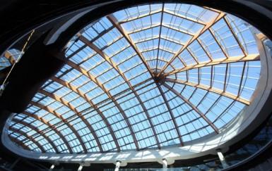 Крыша аквапарка Питерлэнд