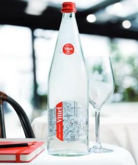 Бутылка воды VITTEL с карикатурами