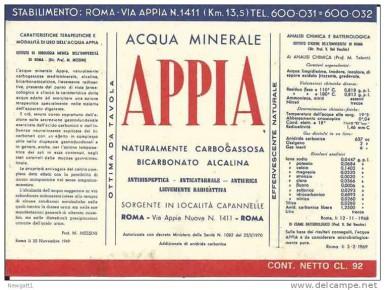 Этикетка Appia
