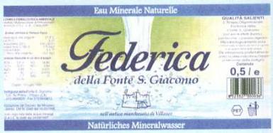 Этикетка Federica della Fonte S. Giacomo
