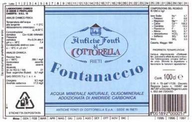 Этикетка Fontanaccio