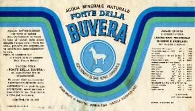 Этикетка Fonte della Buvera