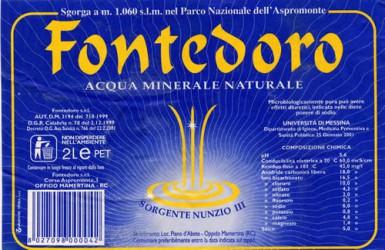 Этикетка Fontedoro