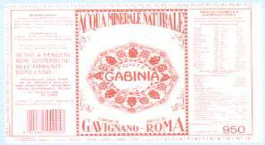 Этикетка Fonte Gabinia