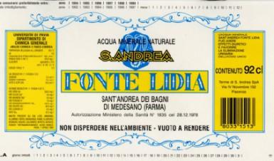 Этикетка Fonte Lidia