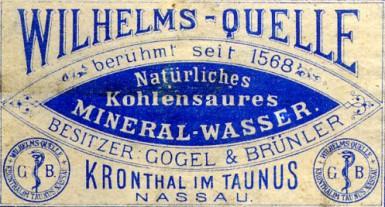 Wilhelmsquelle Heilwasser