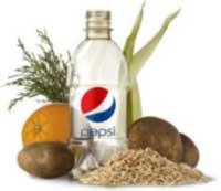 Зеленая бутылка от PepsiCO