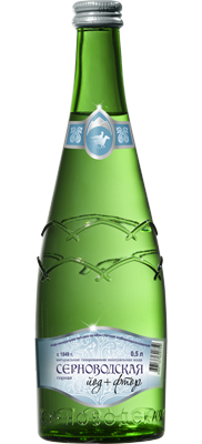 Серноводская горная, стекло, 0.5 литра