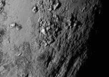 Горы из воды на Плутоне