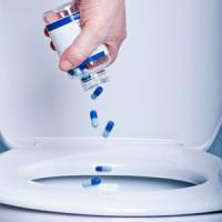 Лекарства, которые смывают в канализацию являются  источником фармацевтического загрязнения