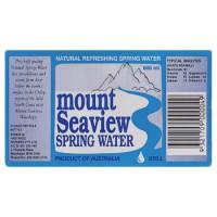 Этикетка Mount Seaview Spring Water