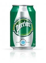 Новая упаковка воды Perrier, 0,33 л.